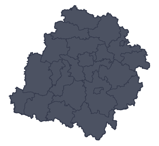 Mapa województwa miejscowości Bełchatów
