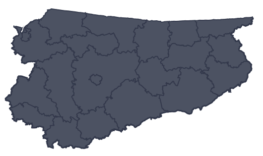 Mapa województwa miejscowości Ostróda