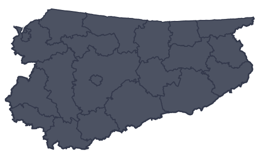 Mapa województwa miejscowości Olsztynek