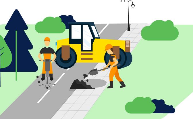 Przebudowa chodników gminnych