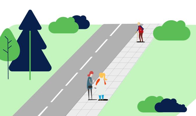 Inwestycje w ciągi dla pieszych