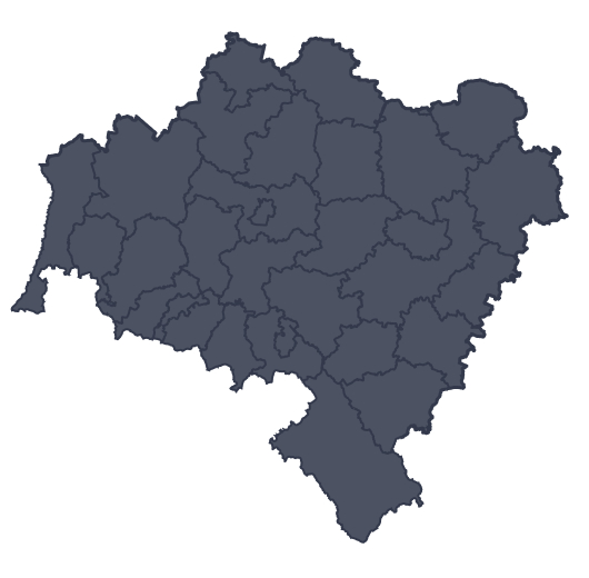 Mapa województwa miejscowości Trzebnica