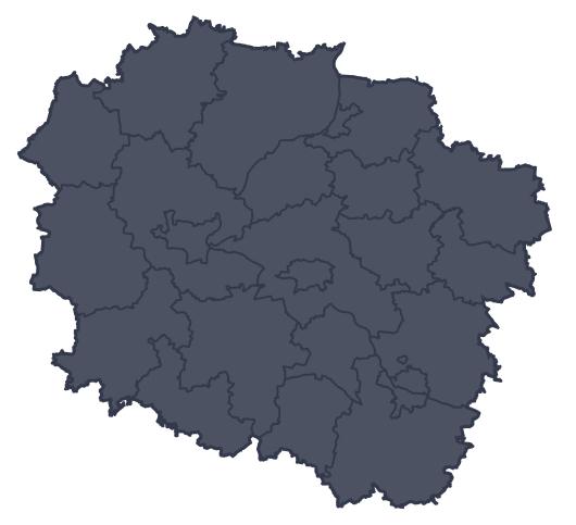 Mapa województwa miejscowości Świecie