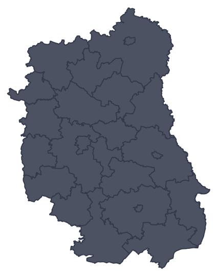 Mapa województwa miejscowości Hrubieszów