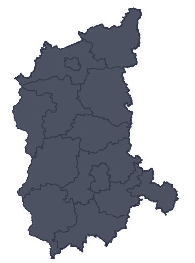 Mapa województwa miejscowości Świebodzin