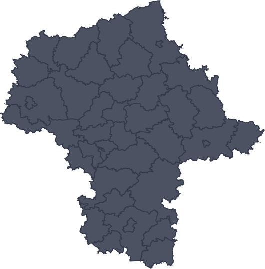 Mapa województwa miejscowości Ostrołęka