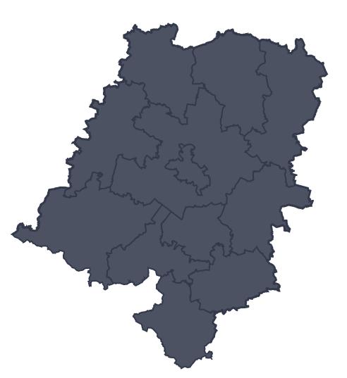 Mapa województwa miejscowości Strzelce Opolskie