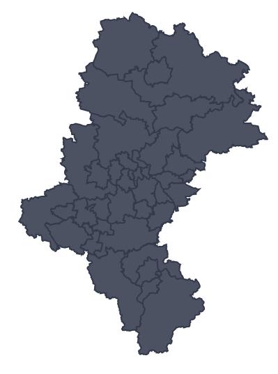 Mapa województwa miejscowości Bielsko-Biała