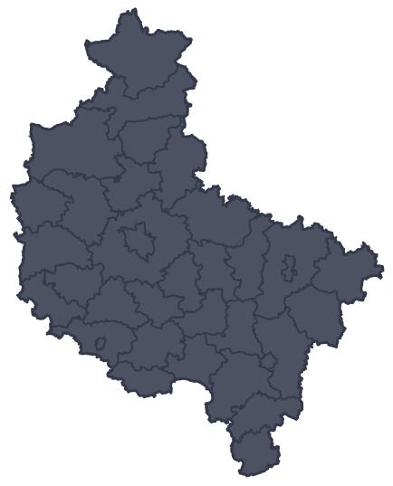 Mapa województwa miejscowości Kalisz